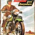 TIN SIGN BSA MOTORCYCLE