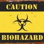 Biohazard tin sign