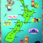 NZ Map of icons