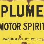 PLUME MOTOR SPIRIT TIN SIGN