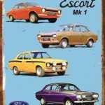 TIN SIGN FORD ESCORT