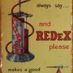 REDEX FUEL ADDITIVE RETRO TIN SIGN