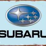 TIN SIGN SUBARU