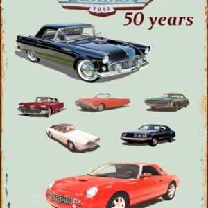 T-BIRD 50 YEARS RETRO TIN SIGN