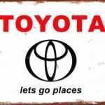 TOYOTA RETRO TIN SIGN