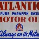 ATLANTIC PARAFFIN OIL RETRO TIN SIGN