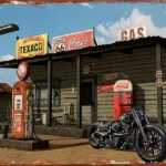 HARLEY DAVIDSON ROUTE 66 RETRO TIN SIGN
