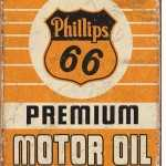 PHILLIPS MOTOR OIL RETRO TIN SIGN