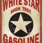 USA WHITE STAR GASOLINE TIN SIGN