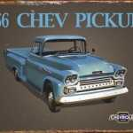 CHEVROLET 1956 PICKUP TIN SIGN