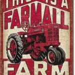 TRACTOR SIGN, FARMALL FARM.