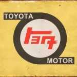 TOYOTA OLD LOGO TIN SIGN