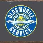 AMERICAN OLDSMOBILE RETRO TIN SIGN