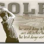 Golfing fridge magnet
