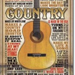 RETRO TIN SIGN COUNTRY MUSIC