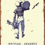 BRITISH SEAGULL TIN SIGN