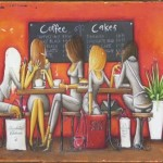 GIRLS COFFEE SCENE TIN SIGN