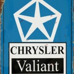 Chrysler Valiant Tin Sign