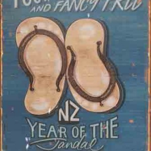 NZ YEAR OF THE JANDAL TIN SIGN