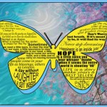 INSPIRATIONAL QUOTES BUTTERFLY TIN SIGN