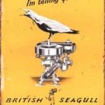 SEAGULL OUTBOARD MOTOR TIN SIGN