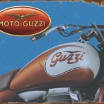 MOTO GUZZI MOTORCYCLE TIN SIGN