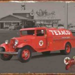 FORD FIRE TRUCK RETRO TIN SIGN