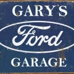 FORD GARAGE TIN SIGN