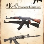 AK47 RIFLE TIN SIGN