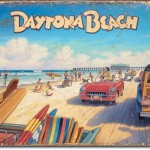 GREETING FROM DAYTONA BEACH RETRO TIN SIGN