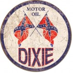 MOTOR OIL TIN SIGN ROUND