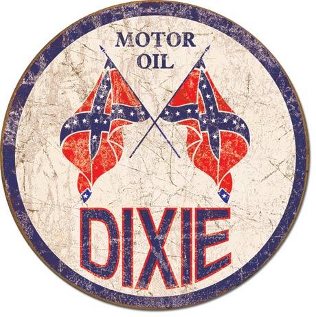 Dixie Motor Oil Retro Tin Sign Mainly Nostalgic Retro Tin Signs More