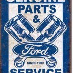 FORD PARTS & SERVICE RETRO TIN SIGN