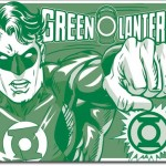 GREEN LANTERN RETRO TIN SIGN.