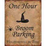 BROOM PARKING RETRO TIN SIGN
