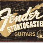 FENDER GUITAR TIN SIGN