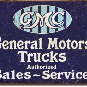 GENERAL MOTORS TRUCKS TIN SIGN