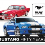 FORD MUSTANG 50 YEARS TIN SIGN