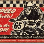 RACING BIKE RETRO TIN SIGN