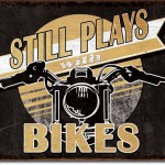 MOTORCYCLE TIN SIGN