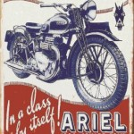 VINTAGE MOTORCYCLE SIGN ARIEL
