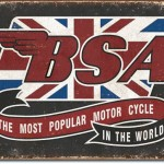 BSA MOTORCYCLE RETRO TIN SIGN