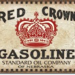 RED CROWN GASOLINE TIN SIGN