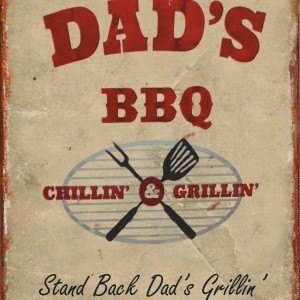 DADS BARBEQUE TIN SIGN