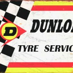 RETRO TIN SIGN DUNLOP TYRE SERVICE