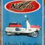 NZETA SCOOTER REPRODUCTION ADVERTISEMENT TIN SIGN