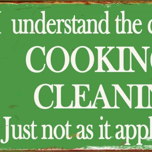 RETRO COOKING & CLEANING TIN SIGN