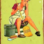 CLEANING TIN SIGN RETRO