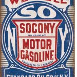 SONCONY MOTOR GASOLINE TIN SIGN