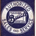 TIN SIGN BUICK AUTHORISED SALES & SERVICE.